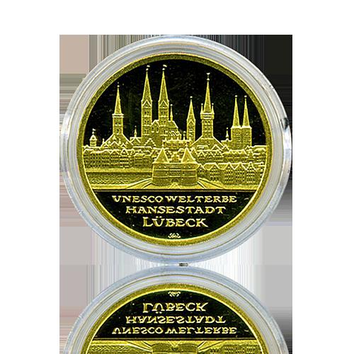 100 Euro Deutschland 2007 Lübeck - 1/2 Unze Gold