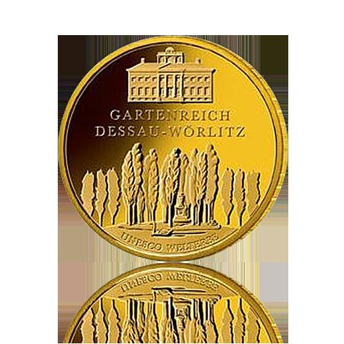 100 Euro Deutschland 2013 Dessau-Wörlitz - 1/2 Unze Gold