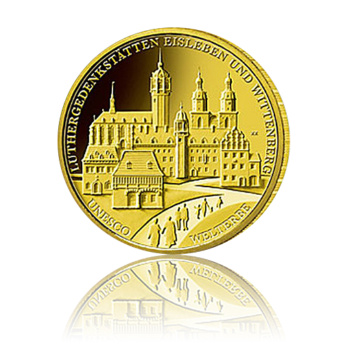 100 Euro Deutschland 2017 Wittenberg - 1/2 Unze Gold