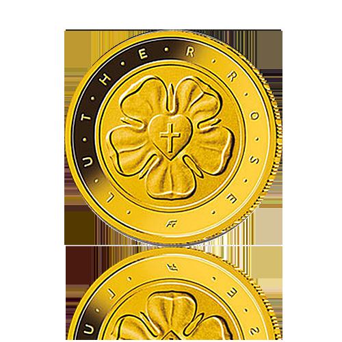 BRD 50 EURO 2017 Lutherrose Gold / F