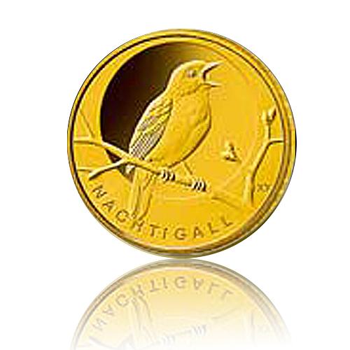 SET 20 Euro Deutschland heim. Vögel / Nachtigall Gold 2016