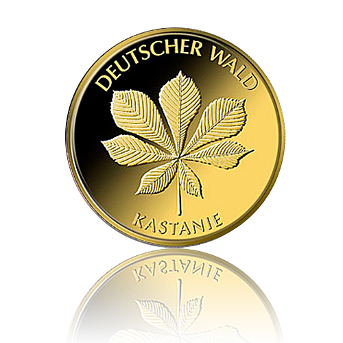 SET 20 Euro Deutschland Kastanie 1/8 Oz Gold 2014