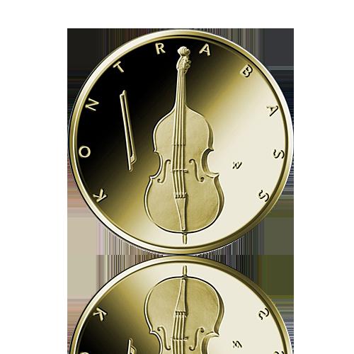 BRD 2018 Kontrabass Gold 50 Euro 1/4 Unze