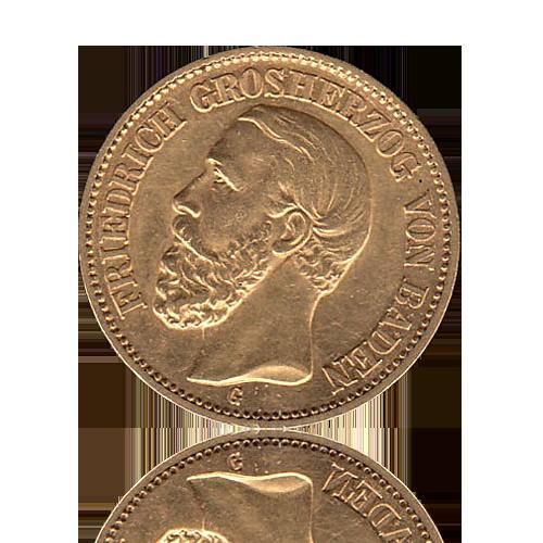 20 Mark Baden Gold Friedrich I.