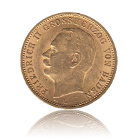 20 Mark Baden Gold Friedrich II.