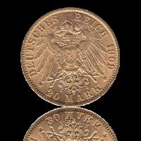 20 Mark Preussen Gold Wilhelm II. J.252