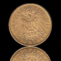 20 Mark Preussen Gold Wilhelm II. J.253