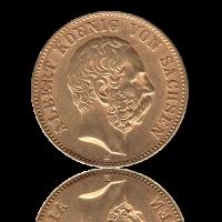 20 Mark Sachsen Gold Albert