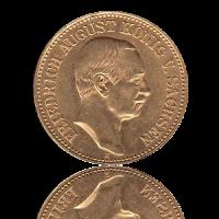 20 Mark Sachsen Gold Friedrich August III.