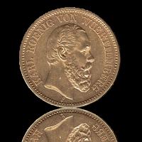 20 Mark Württemberg Gold Karl