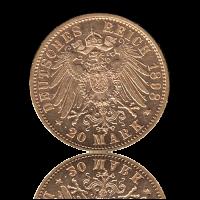 20 Mark Württemberg Gold Wilhelm II.