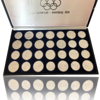 Komplette Sammlung 5 und 10 Can $ Olympiade Montreal 1976