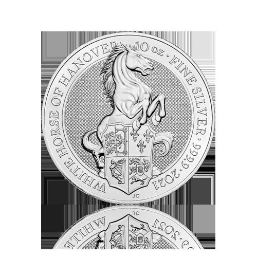 10 Unzen Silber Queens Beasts White Horse 2021