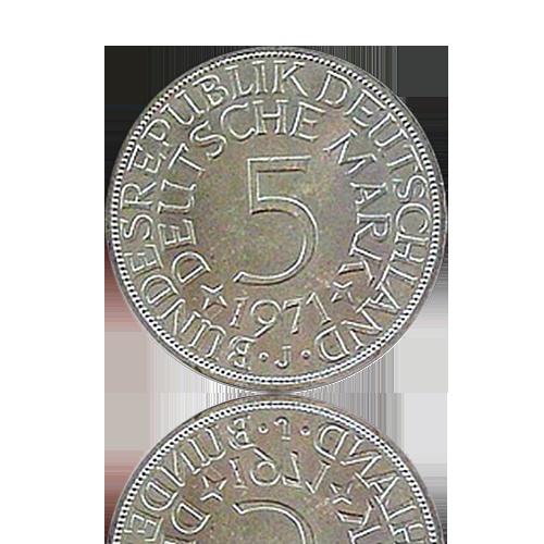 100 x 5 DM Silberadler Investmentpaket