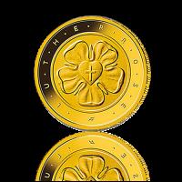 1 Satz BRD 50 EURO 2017 Lutherrose Gold