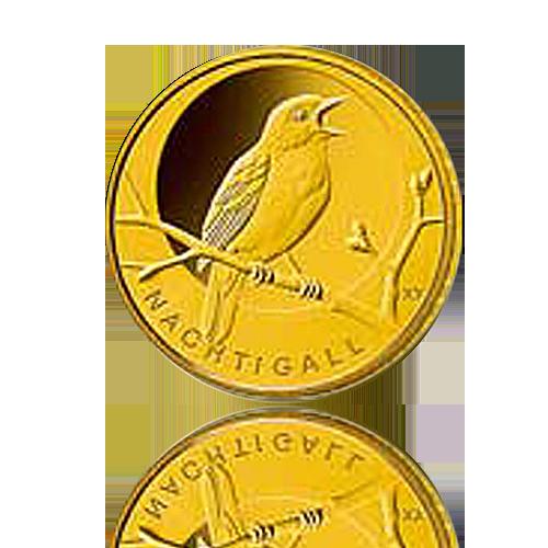 20 Euro Deutschland heim. Vögel / Nachtigall Gold 2016